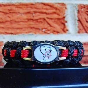 Jewelry - Firefighter Love Paracord Bracelet